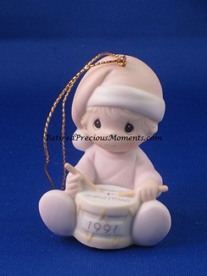 Baby's First Christmas 1991 (Girl) - Precious Moment Ornament