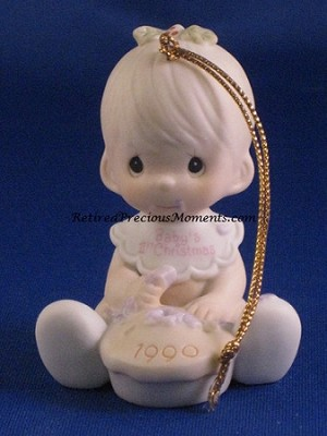 Baby's First Christmas 1990 (Boy) - Precious Moments Ornament
