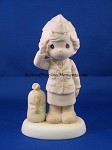 Bless Those Who Serve Their Country - Girl Soldier- Precious Moment Figurine