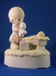 Christmas Is A Time To Share (Musical)- Precious Moment Figurine