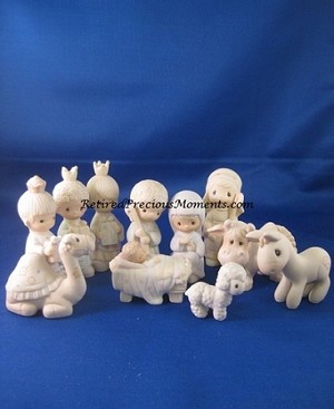 Come Let Us Adore Him - Precious Moments (Mini Nativity) 11pc Set