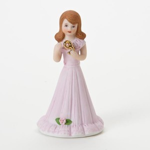 Enesco Growing Up Girls Brunette Age 9 Birthday Girl Figurine