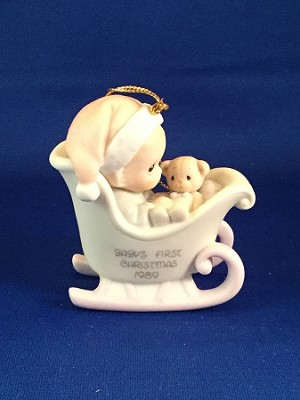 Baby's First Christmas 1989 (Boy) - Precious Moment Ornament