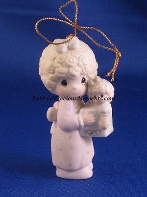 Love Is The Best Gift Of All - Dated Annual 1987 Precious Moment Ornament