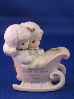 Our First Christmas Together 1993 - Precious Moment Ornament
