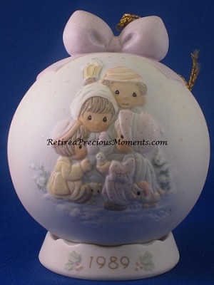 Peace On Earth - 1989 Precious Moment Ball Ornament