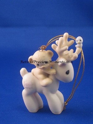 Reindeer - Dated Annual 1986 Precious Moment Ornament