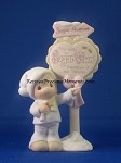 Sam Butcher/Population Sign Figurine - Precious Moment Figurine