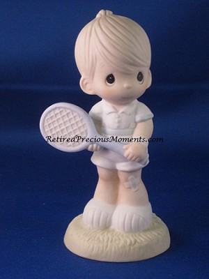 Serving The Lord (Boy) - Precious Moment Figurine