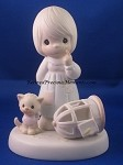 The Lord Giveth , And The Lord Taketh Away - Precious Moment Figurine