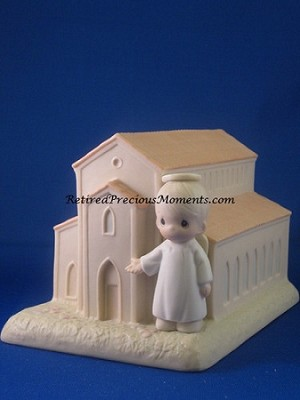 There's A Christian Welcome Here - Precious Moment Figurine