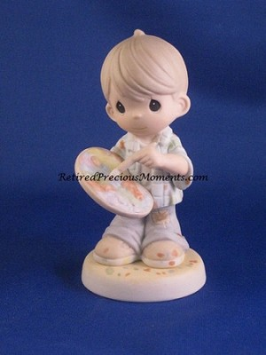 You Color Our World With Loving, Caring, And Sharing - Precious Moment Figurine